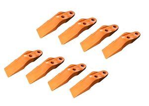 """8 Skid Steer, Loader Bolt-On Uni-Teeth 132-4720, 2 3/8"""" Hole to Hole Spacing"""