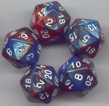 NEW RPG Dice Set of 5 D20 - Twisted Aqua-Bronze
