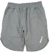 Echt Mens Size Small S Grey Drawstring Jogger Muscle Elastic Waist Active Shorts