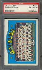 1972 Topps Baltimore Orioles Team Card #731 - PSA 6 - EX-MT