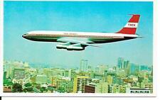 Airline issue postcard-  Trek Airways South Africa B707 aircraft