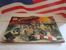 LEGO INDIANA JONES MOTORCYCLE CHASE! SET 7620 INSTRUCTION MANUEL ONLY