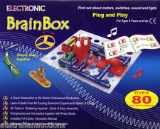 EDUCATIONAL KIT BRAINBOX 80 SNAP CIRCUITS ELECTRICITY EXPERIMENTS LEARN SAFELY