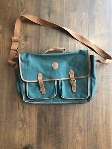 Vintage Polo Ralph Lauren Messenger Carry Bag - Green/Brown - RL