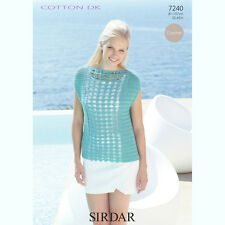 d5f5e5e490b96c Sirdar Womens Crochet Pattern - 7240 - Top - Cotton DK