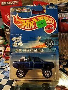 1997 Hot Wheels Collector # 574 Blue Streak Series 2/4 NISSAN TRUCK Blue CTSB