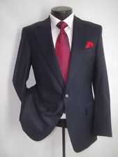 Chester Barrie Savile Raw Blue Stripe 2 Button Wool Suit Jacket, Coat 38 S