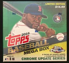 Four 2016 Topps Chrome Update Mega Boxes Factory