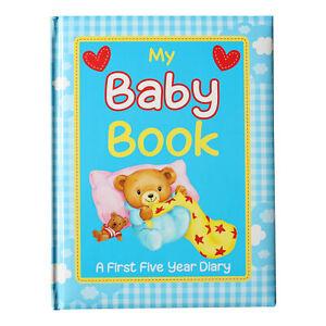 Blue Baby Record Book baby Keepsake Diary Birth to 5 Yrs