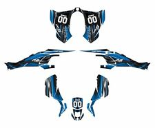 CAN AM DS 450 graphics sticker kit #3333 Blue Free Custom Services