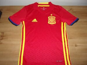 Spain National Football Team Red Shirt - By Adidas - Age 7-8 Years