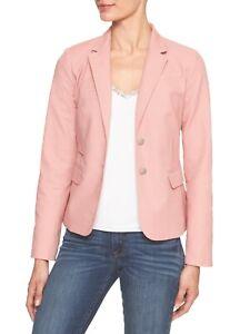 Banana Republic Factory Pop Textured Academy Blazer Soft Potpourri Pink Womens 2