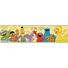 SESAME STREET Wall Border Sticker Wallpaper Room Decor ELMO COOKIE MONSTER ABBY