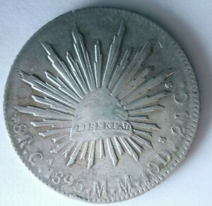 1895 Ca MEXICO 8 REALES - Strong Value Uncommon Silver Coin - lot #F24