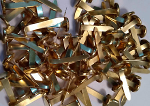 Shiny Paper Fasteners - 20mm Brass Pointed Steel