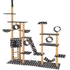 XXL Tiragraffi per gatti albero graffiatoio altezza del soffitto nero/zampe