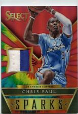 Chris Paul 2014-15 Panini Select Sparks Tie-Dye Game-Worn Prime Patch #D /25