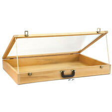 Portable Wood Showcase With Carrying Handle - 24 W x 36 L x 4 H Inches