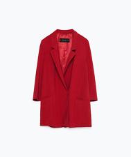 NWT ZARA Red Longline Blazer/Jacket