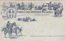 VERONA - Fiera di Cavalli 1899 Sovrastampa Rossa