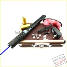 2Wb970 450nm Burning Blue Laser Pointer 3 Switch Modes & 2 X 26650 Li Batteries