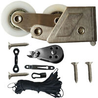 Surfboard Canoe Anchor Trolley Deck Plate Kit Deck Hatch for Kayaking Boat S1O7