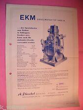 ✪ Prospekt Brochure Diesel Motor EKM TYP 1 NVD 14 Stationär; Trecker Schlepper