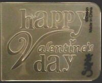 Sizzix Small Embossing Folder HAPPY VALENTINES fits Cuttlebug, Big Shot & Wizard