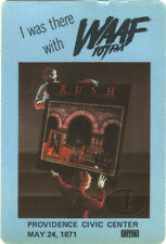 RUSH 1981 MOVING PICTURES RADIO PASS Providence WAAF-FM