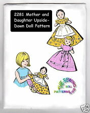 vintage Mother-daughter upside down topsy turvy doll pattern 2281