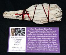 """White Sage 4"""" Californian Smudge Stick Cleansing"""