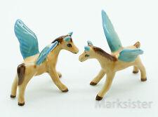 2 Pcs. Figurine Animal Miniature Ceramic Statue Pegasus - Sfm006