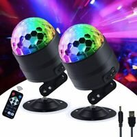 Outdoor Disco Party Lights LED DJ Strobe Ball Sound Activated 7mode Rotate Lamp