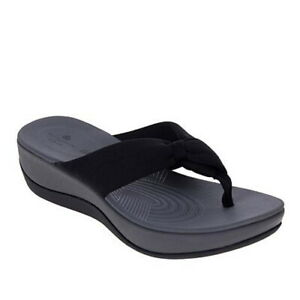 Clarks CLOUDSTEPPERS Cloud Steppers Arla Glison Thong Sandals Black  Size: 9 NWT