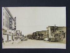 Loveland Colorado 4th Street Coke Theater Signs Real Photo Postcard RPPC 1940s