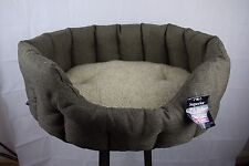 P&L Superior Pet Beds Premium Oval Drop Fronted Heavy Duty Dog Bed Size Large