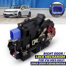 Rear Driver Right Side Door Lock Mechanism For VW Golf Mk5 2003-2009 #3D4839016A