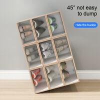 Shoes Box Transparent Drawer Case Plastic Shoe Boxes Stackable Storage Case PET