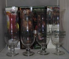 4x Pat O'Brien's Barware Hurricane Glass cup New Orleans Louisiana SET OF FOUR