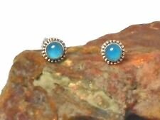 CHALCEDONY   Sterling  Silver  925  Gemstone  Earrings / STUDS   -  Gift Boxed!