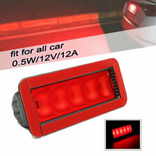 Universal Car 5LED Warning 12V Rear High Mount Third 3RD Brake Stop Tail Light