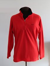 PATAGONIA Long Sleeve CAPILENE Red Mock Neck Fleece Pull Over Sweatshirt Jacket