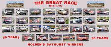 HOLDEN BATHURST WINNERS Panoramic 50 Years of the Great Race POSTER *SALE*