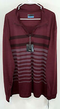 New Nwt Pga Tour Men's Golf Shirt 1/4 Zip Motionflux Jacket Burgundy Xxl 2Xl