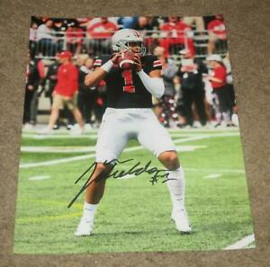 JUSTIN FIELDS SIGNED AUTOGRAPHED 8X10 PHOTO (PROOF) CHICAGO BEARS OHIO STATE