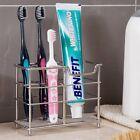 Stainless Steel Bathroom Toothbrush Toothpaste Holder Stand Razor Organizer US