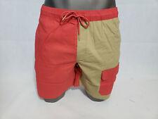 The North Face Mens Seaglass FlashDry Hiking Shorts Walking Cargo Red Tan L NWT