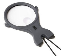 Carson MagniLook Hands Free Strap Lighted Mangifier 2.5X Power 4.5X Spot Lens