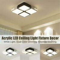 Acrylic LED Ceiling Light Pendant Lamp Bedroom Dimmable Chandelier Fixture   CA