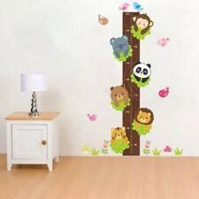 HEIGHT CHART Monkey Panda Lion Tree Animals Wall Decor Stickers Kids Room Child